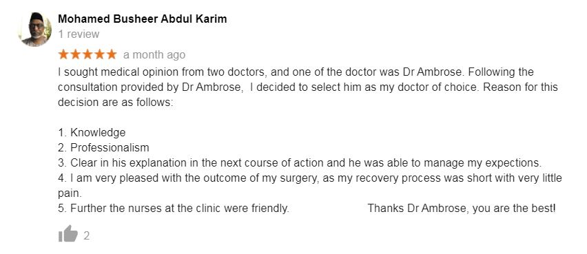 Dr Ambrose Review 1