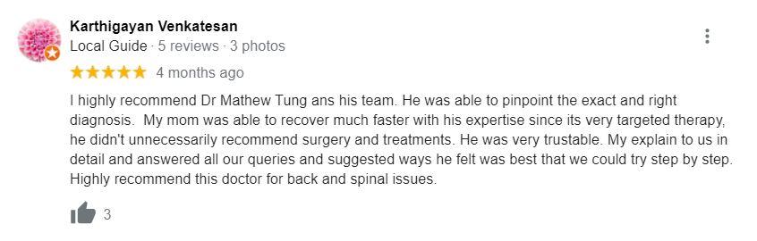 Dr. Mathew Tung review